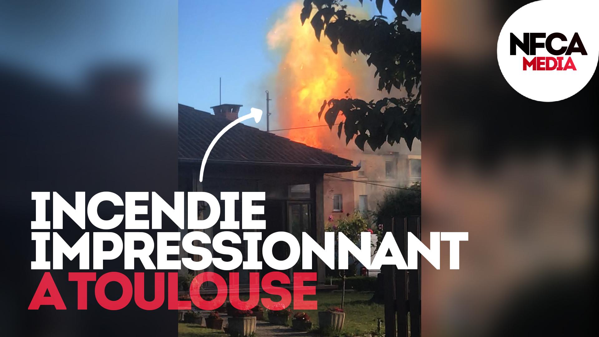 🔴 Impressionnant incendie à Toulouse.
